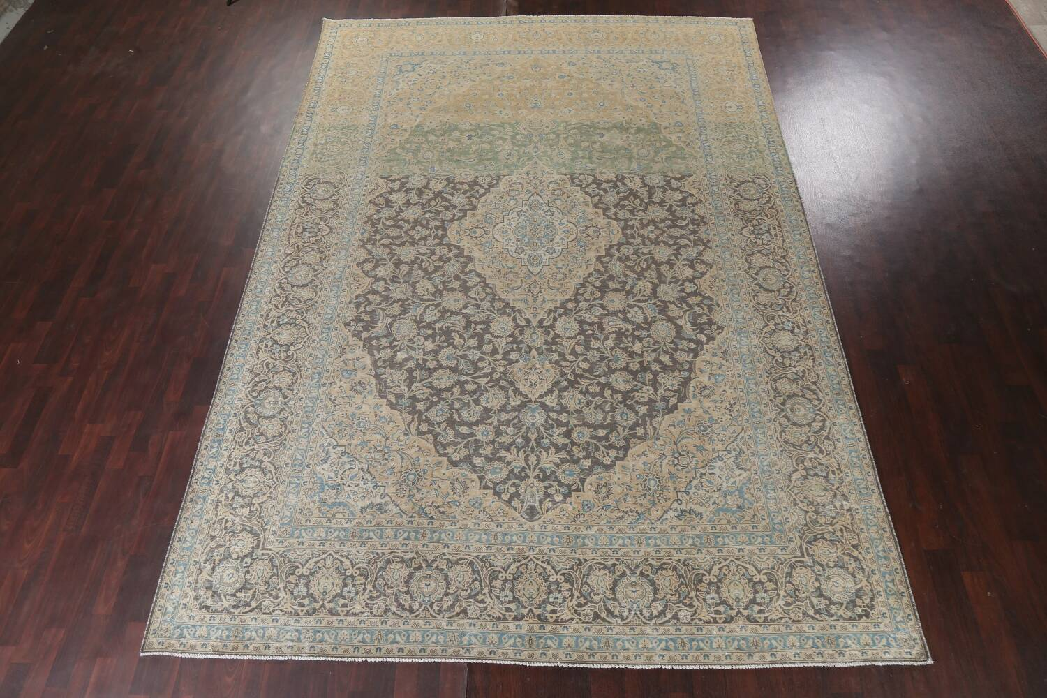 Traditional Distressed Kashan Persian Area Rug 10x14 image 18