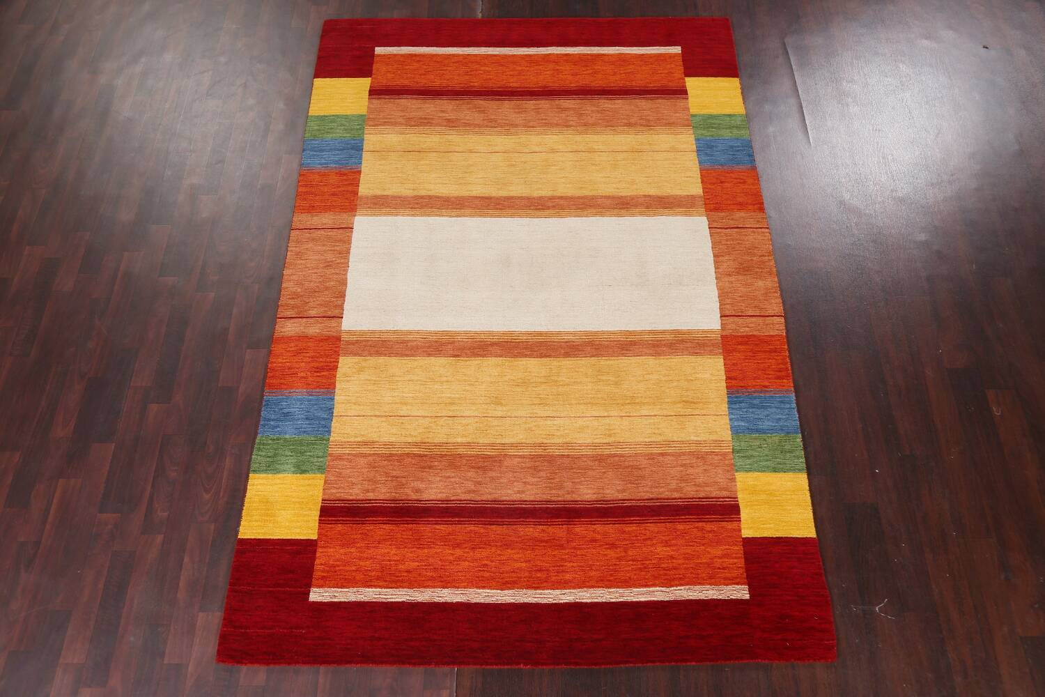 Contemporary Gabbeh Wool Area Rug 7x10 image 3