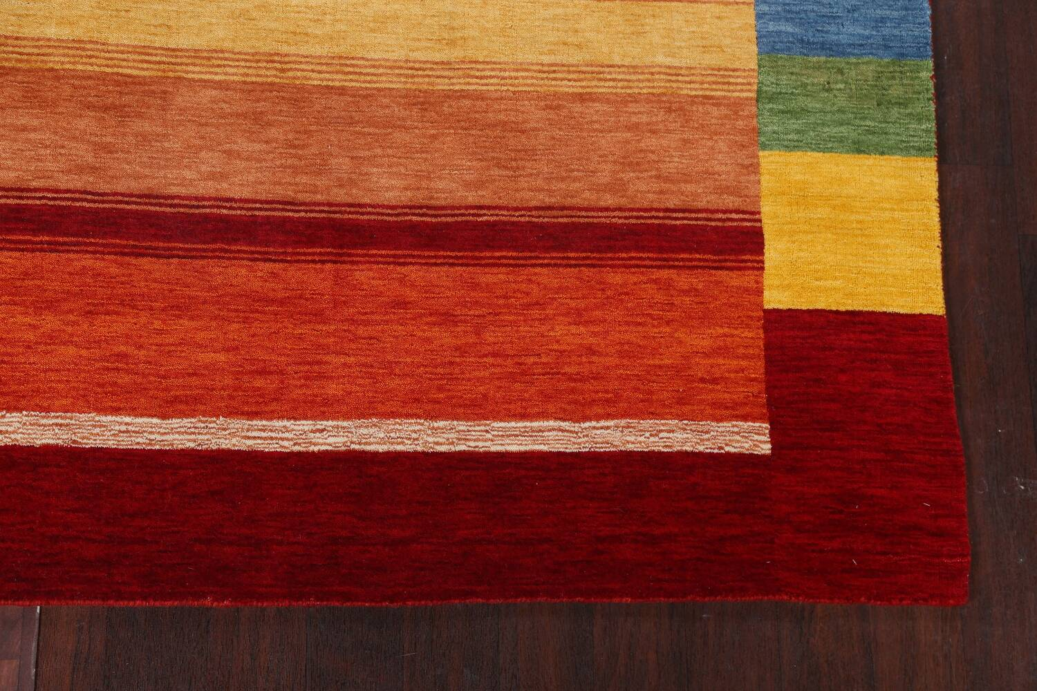 Contemporary Gabbeh Wool Area Rug 7x10 image 7