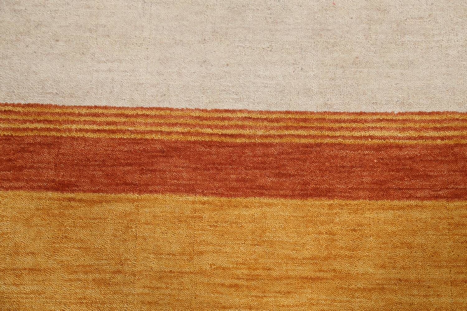 Contemporary Gabbeh Wool Area Rug 7x10 image 10