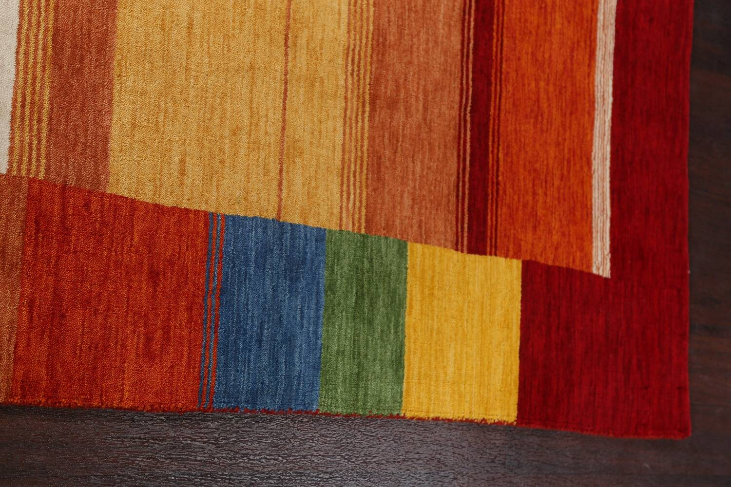 Contemporary Gabbeh Wool Area Rug 7x10 image 14