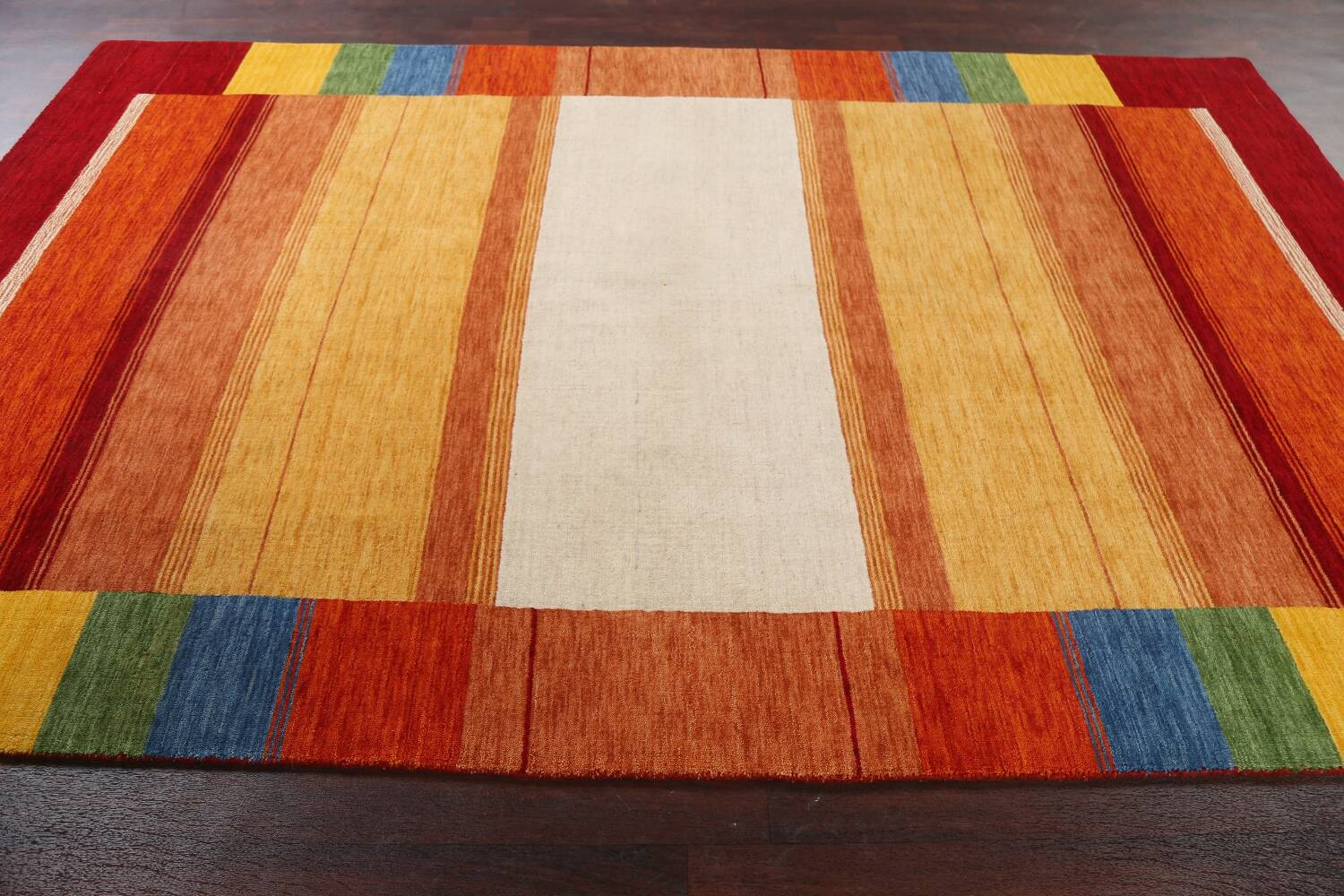 Contemporary Gabbeh Wool Area Rug 7x10 image 15