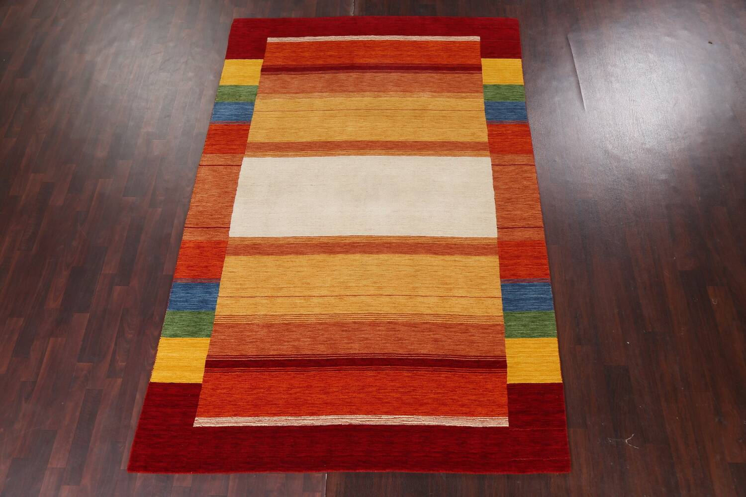 Contemporary Gabbeh Wool Area Rug 7x10 image 16