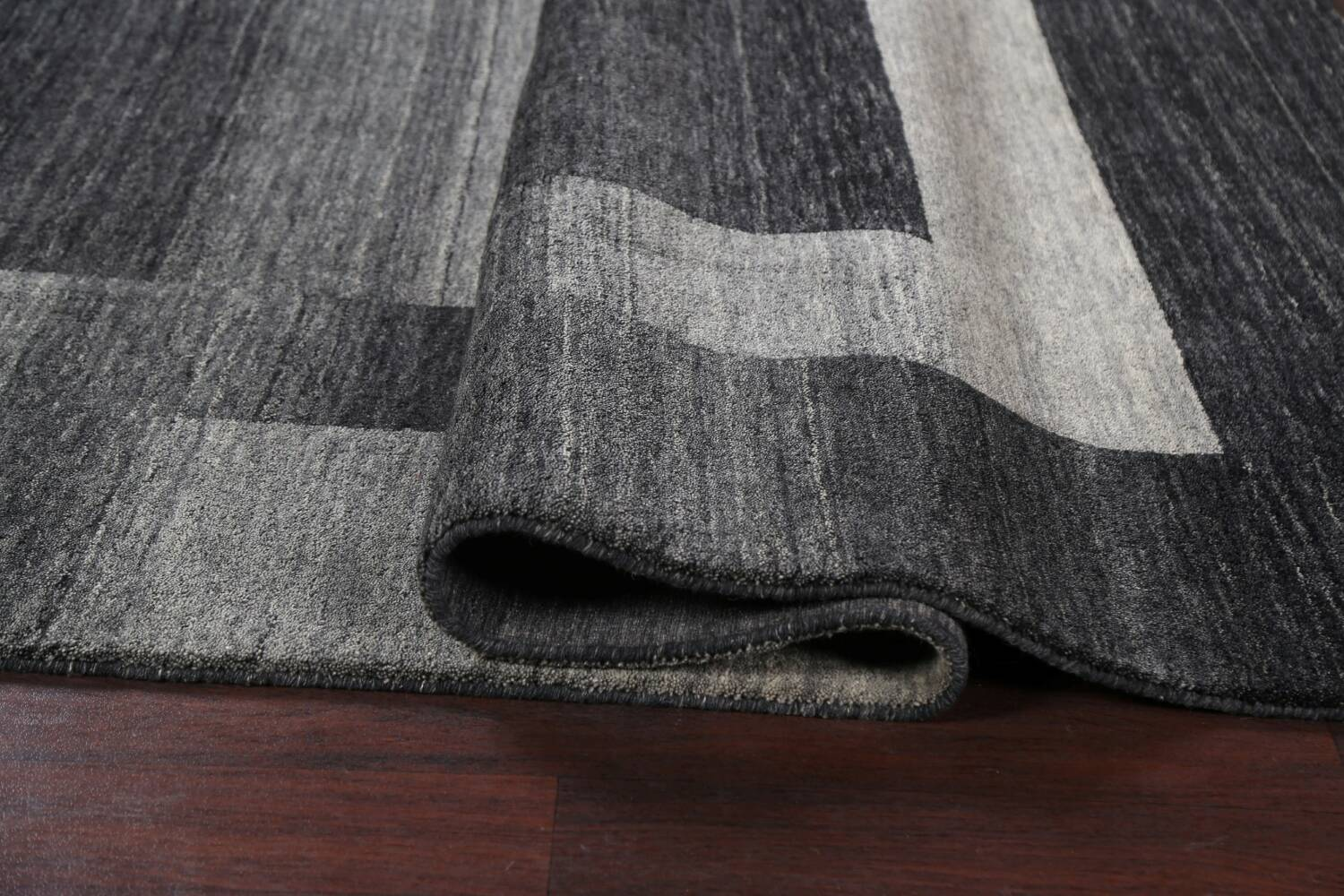 Contemporary Gabbeh Wool Area Rug 7x10 image 12