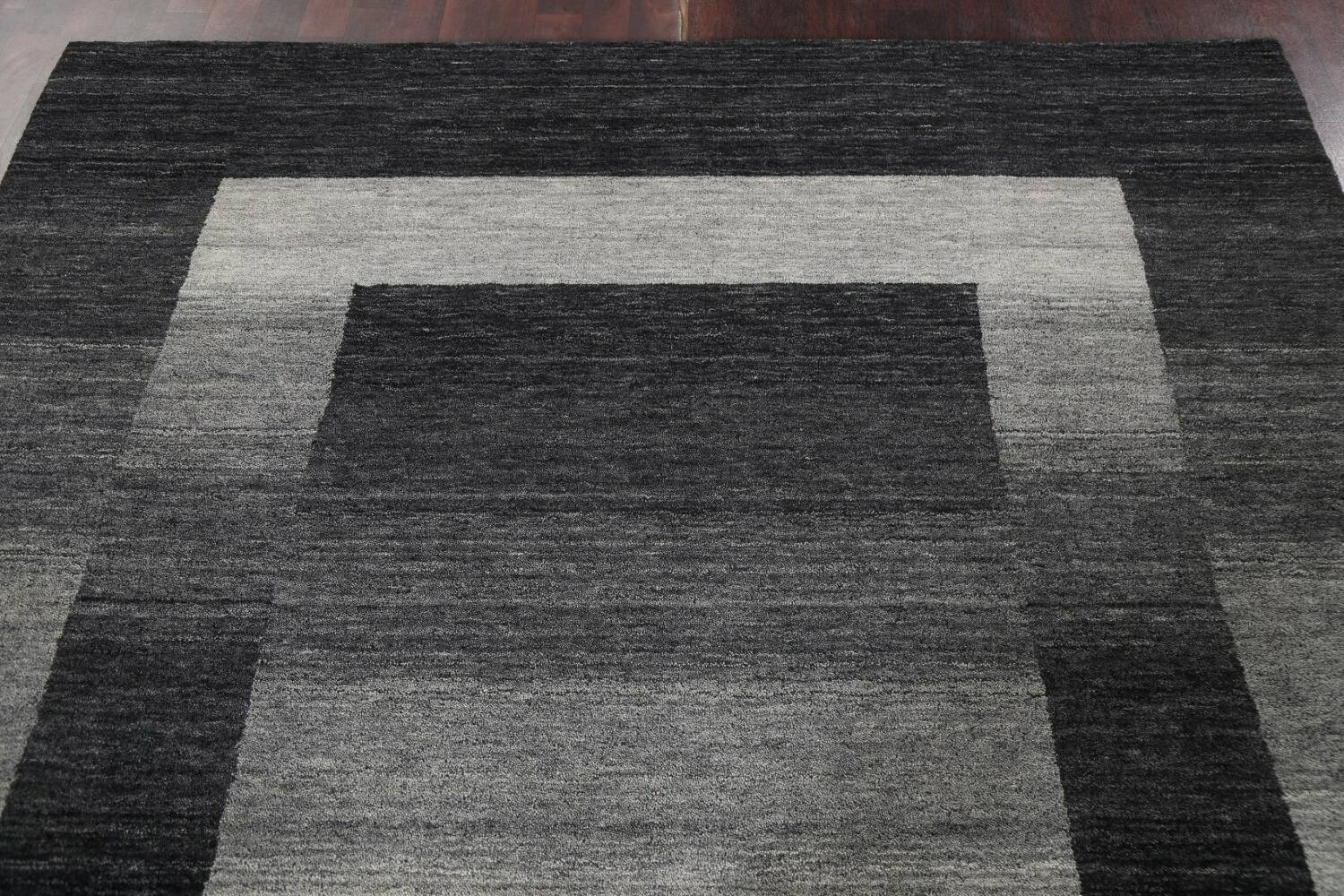 Contemporary Gabbeh Wool Area Rug 7x10 image 13