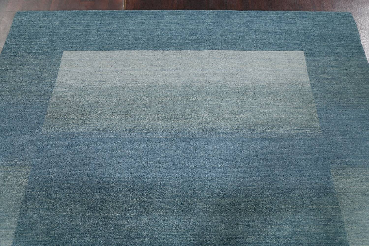 Contemporary Gabbeh Wool Area Rug 6x9 image 12