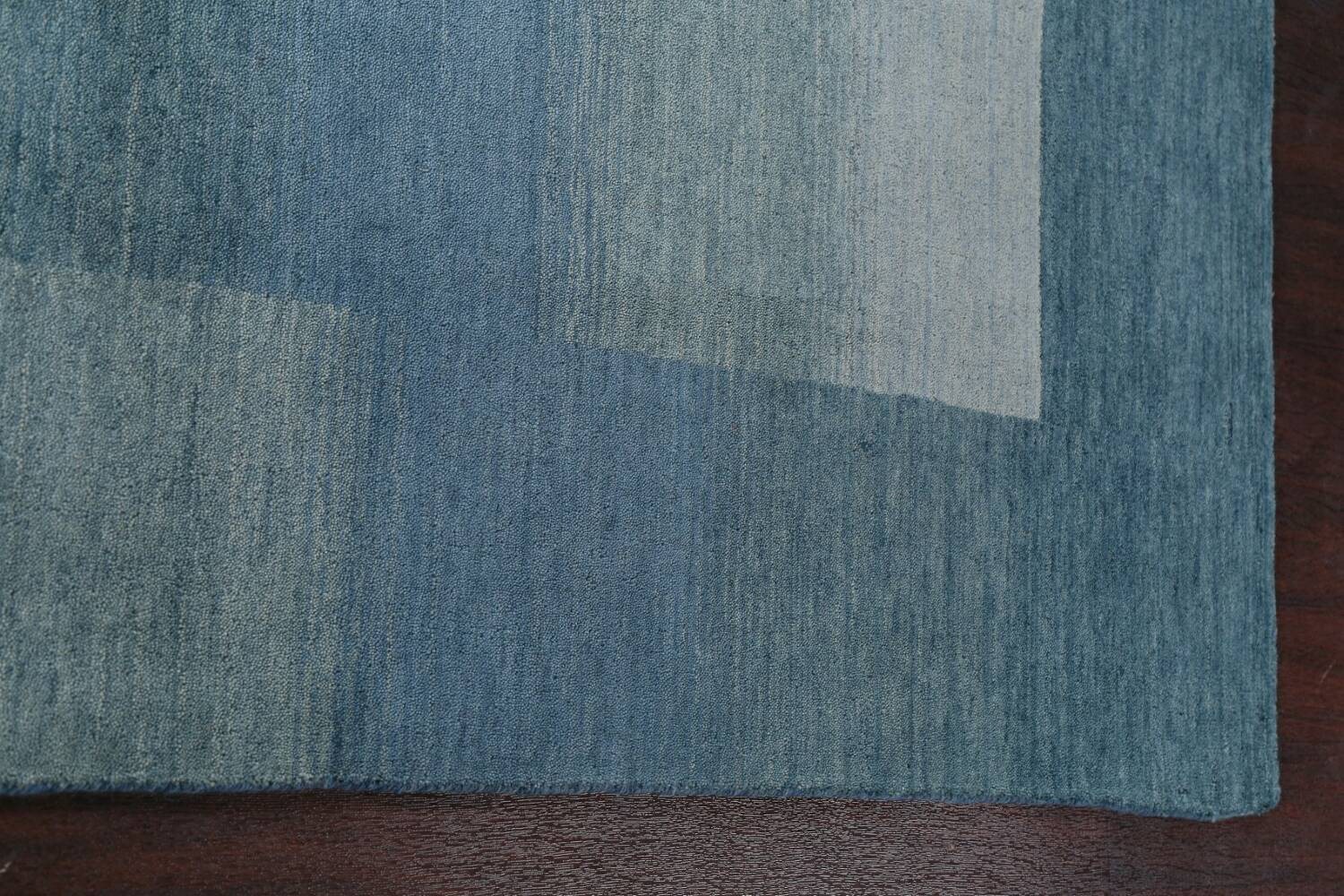 Contemporary Gabbeh Wool Area Rug 6x9 image 13