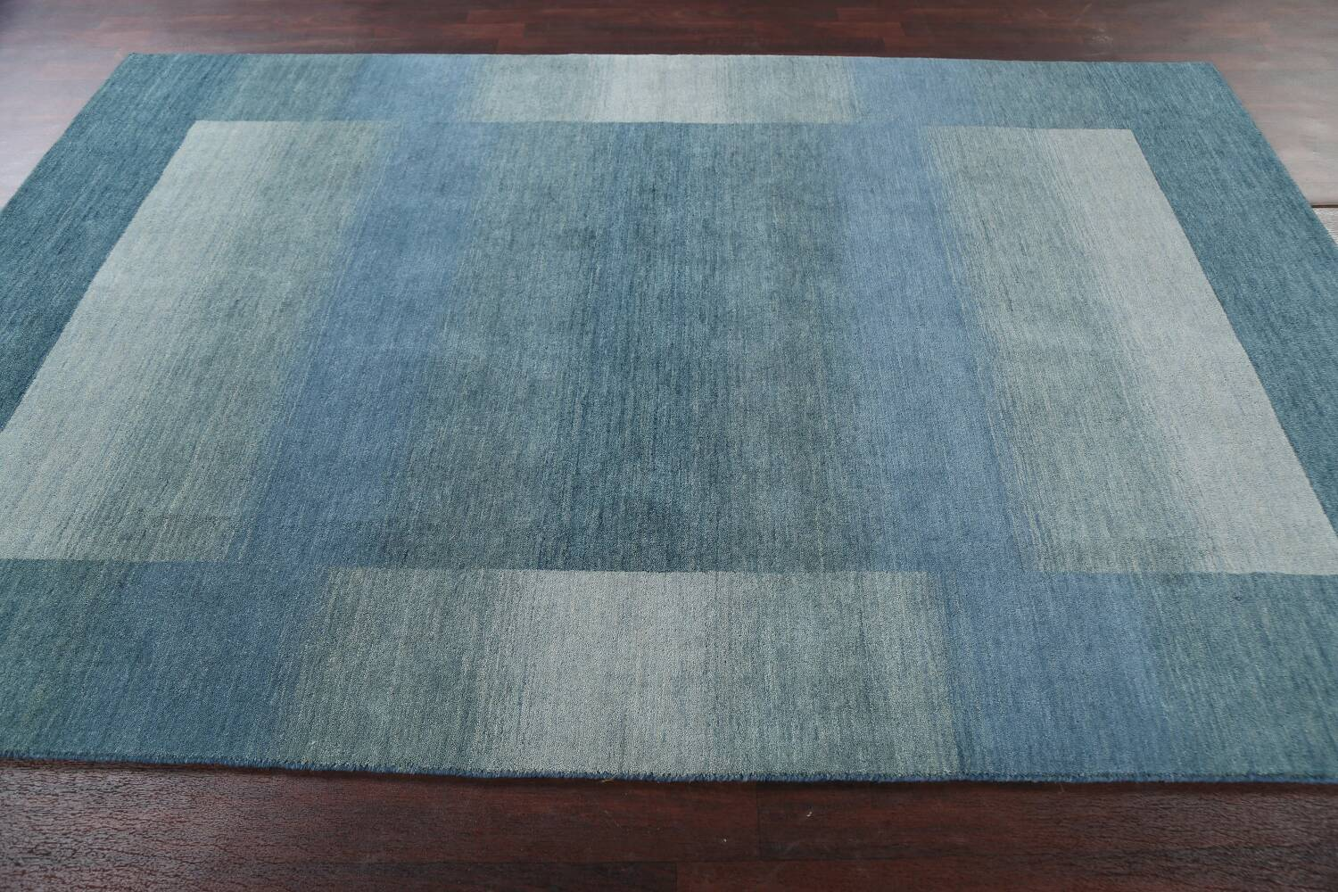 Contemporary Gabbeh Wool Area Rug 6x9 image 14