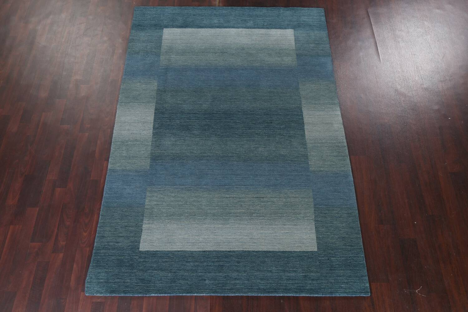 Contemporary Gabbeh Wool Area Rug 6x9 image 15
