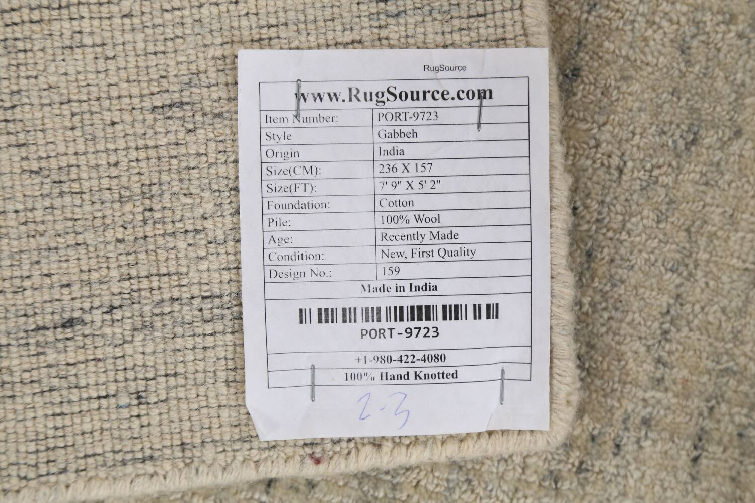 Contemporary Gabbeh Wool Area Rug 5x8 image 21