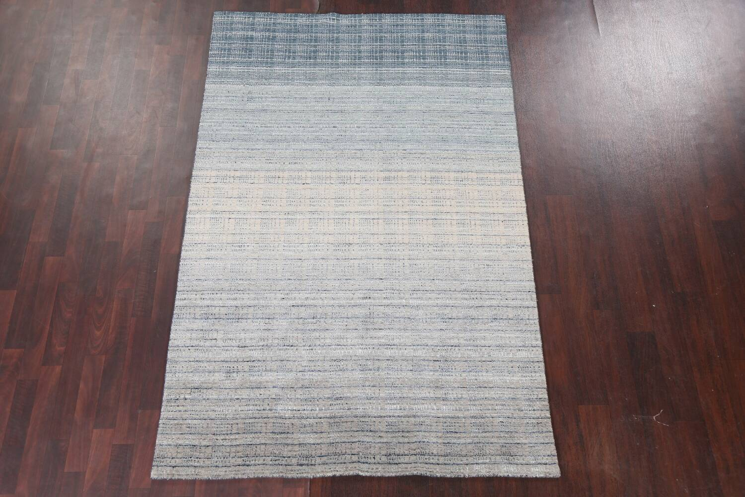 Contemporary Gabbeh Wool Area Rug 5x8 image 3