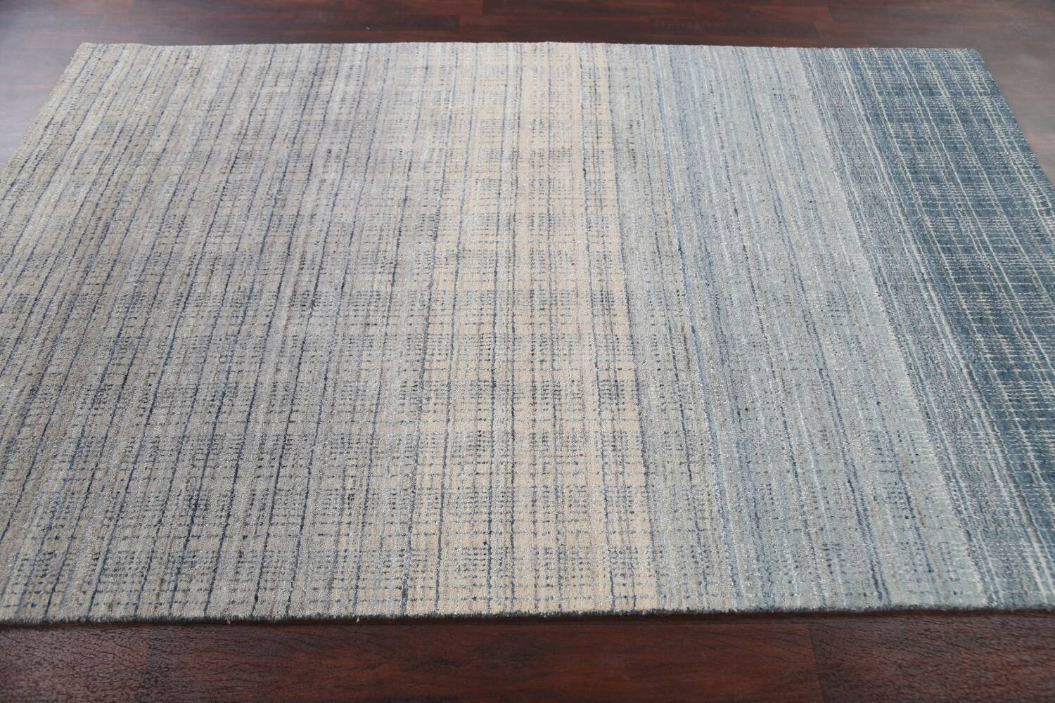 Contemporary Gabbeh Wool Area Rug 5x8 image 14