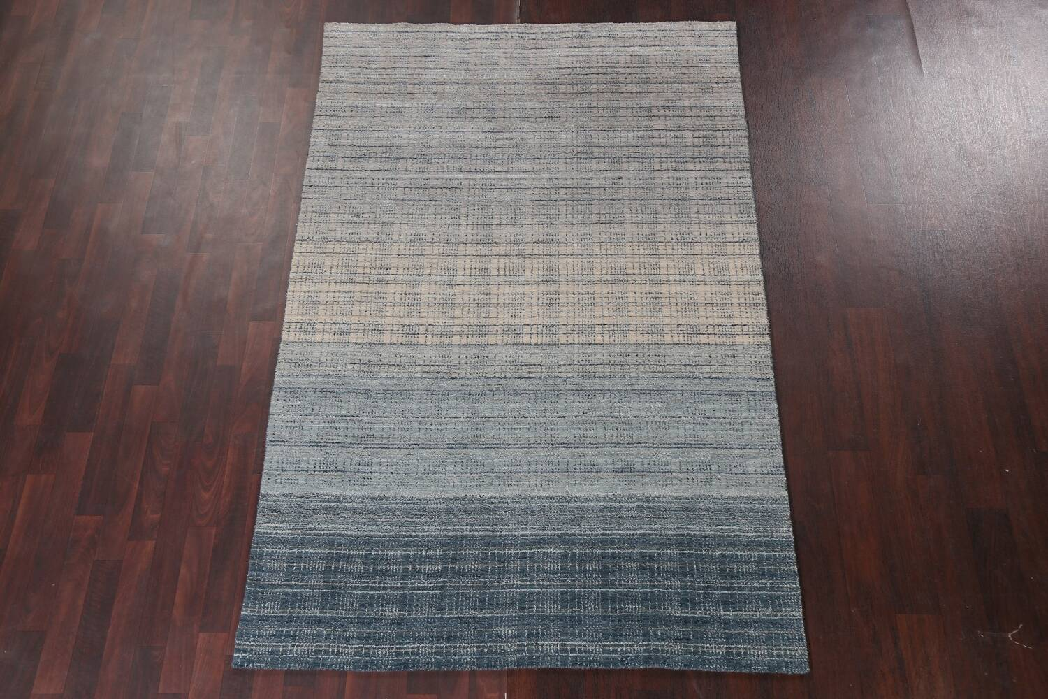Contemporary Gabbeh Wool Area Rug 5x8 image 15